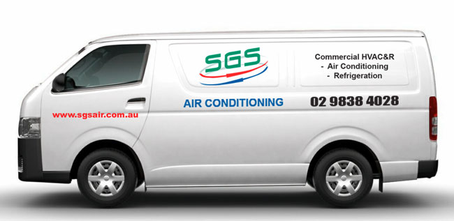 Air conditioning service van